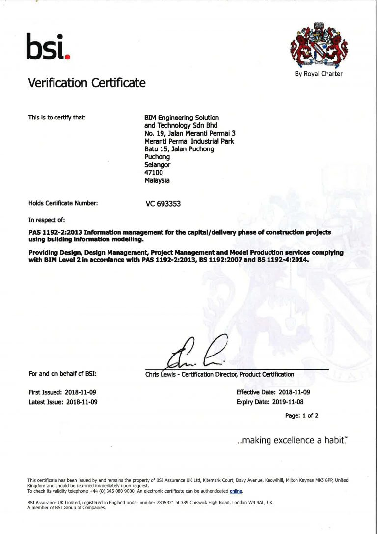 PAS 1192-2 2013 BSI VERIFICATION CERTIFICATE_Page_1